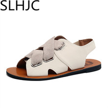 SLHJC Sommer Schuhe Frauen Retro Vintage Fischer Schuhe Flachem absatz Sandalen Sommer Wohnungen