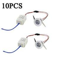10pcs Led Recessed Cabinet mini Spot light 1W 3W Mini downlight Include Led Driver AC85-265V 31mm*21mm 8 Color Emitting Light IL