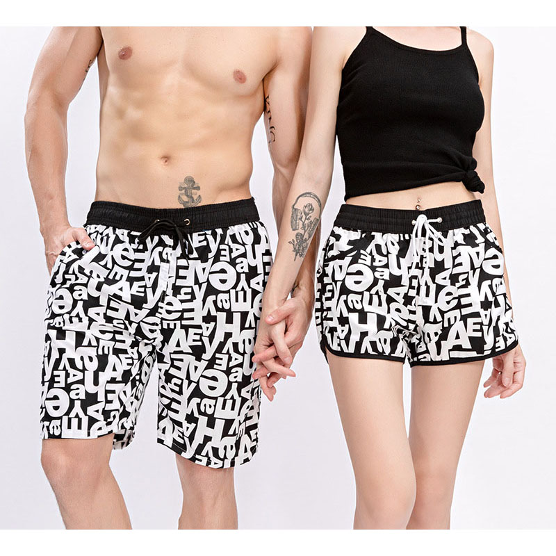 Couple Swimwear Swim   Shorts   Trunks Beach   Board     Shorts   Swimming Pants Swimsuits Mens Running Sports Surffing   Shorts   Men & women