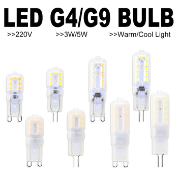 6PCS Corn Bulb G9 LED 3W 5W Bombilla G4 220V Lamp 2835 Lampada g9 Dimmable Light Replace Halogen Candle