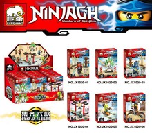 JX1020 Ninjagoes Spinjitzu Building Block 6pcs/lot Minifigures Compatible with Legoe Bricks Toy Christmas Gifts