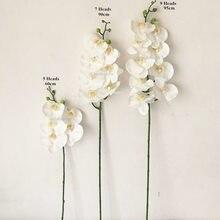 Оптовая продажа Latex5/7/9/11 головки искусственной искусственная Орхидея Фаленопсис кремния полиуретан с эффектом реального прикосновения на ...
