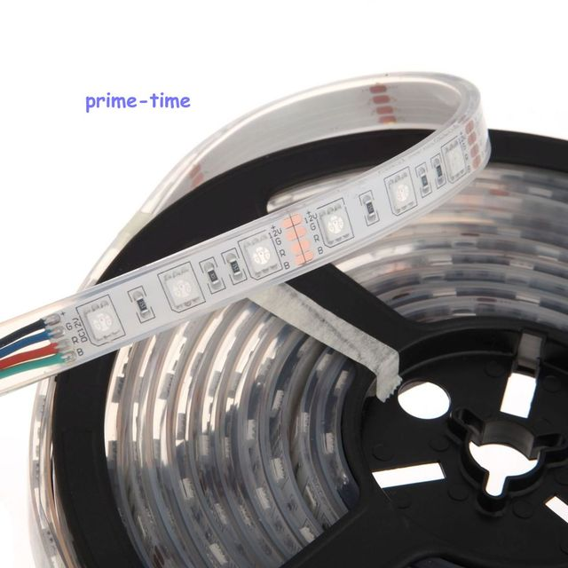 IP68 Waterproof 5050 LED Strip,12V 60LED/M 5M flexible Strip,White Warm White RGB,Underwater Use for Swimming Pool,Fish Tank 1