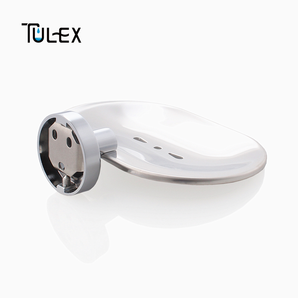 Home Improvement Tulex Soap Dish Wall Mounted Soap Holder Soap Box Soap Holder For Shower Full Brass Body Chrome Plated Accessories For Bathroom Soap Dishes