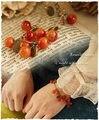 De! Mulheres linda cereja frutas Bronze pulseira Vintage presente ajustável MB69