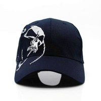 2018 High Quality Unisex 100% Cotton Outdoor Baseball Cap Skull Embroidery Snapback Fashion Sports Hats For Men & Women Cap 1