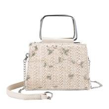 Litthing New Summer Straw Beach Crossbody Women Bags Female Handbags Ladies Hand  Rattan Lace Flowers Shoulder Messenger Bag