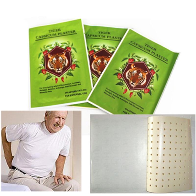 40Pcs=10 Bags Tiger Balm Capsicum Plaster 7*10CM Natural Herbal Treatment Muscular Pain Stiff Shoulder Joint Relief Patch