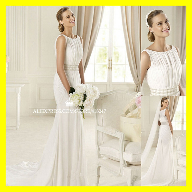 Cotton Wedding Dresses Halter Neck Dress Hire Uk Mormon A-Line Floor-Length  Sweep Brush Train Beading High Spaghetti 2015 Cheap de7890c205ad