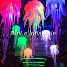 Красивая 2,5 м свет надувные Медузы вечерние свадебные этап Декоративный Надувной шар для продажи