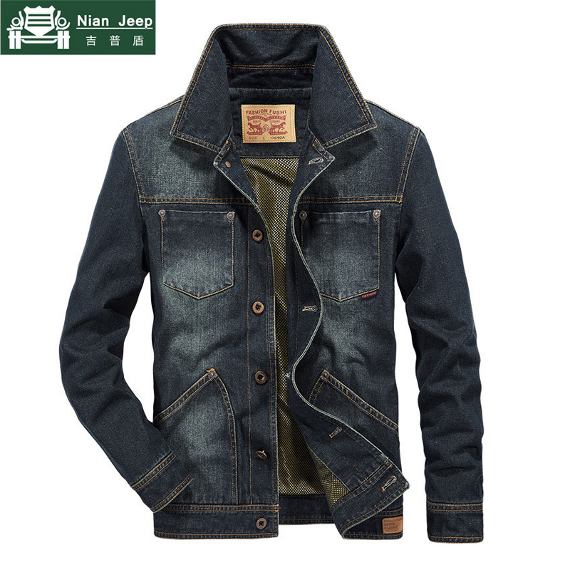 2020 New Denim Jacket Men Casual Mens Bomber Jacket High Quality Cowboy Outwear Mens Jean Jacket Chaqueta Hombre Plus Size M-4XL