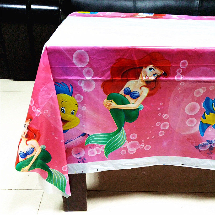 Disney Princess Table Cover Cloth Tableware Party Supplies plastic 108CM*180CM