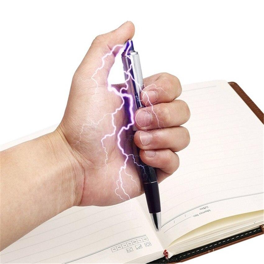 2PCS Electric Shock Pen Practical Joke Gag Prank Funny Trick Fun Gadget April Fool Toy