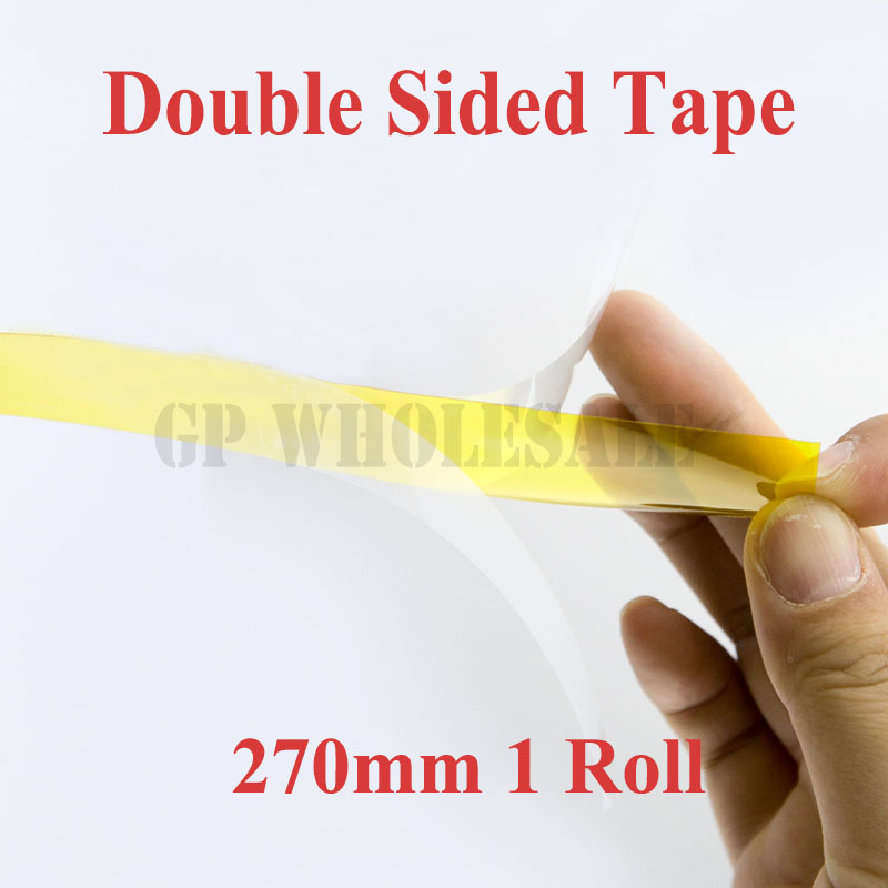 лучшая цена 27cm / 270mm*20M 0.1mm Thick, High Temperature Resist, Double Face Sticky Tape, Poly imide for PCB Shield, Relays