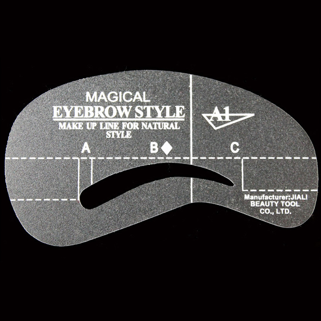 4Pcs Vopregezi Pro Reusable Eyebrow Stencil Set Eye Brow Mold DIY Drawing Guide Styling Shaping Template Card Makeup Beauty Kit 3