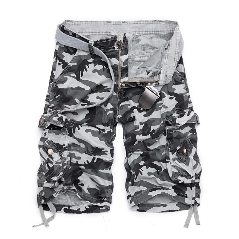 2020 Summer Hot Cotton Camouflage Cargo Shorts Men Casual Slim Camo Mens Shorts Military Man Bermuda Shorts