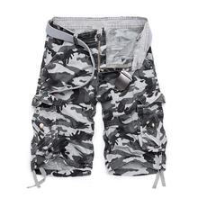 2020 Summer Hot Cotton Camouflage Cargo Shorts Men Casual Sl