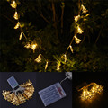 Battery Operated 20 LED Metal Gold Christmas Tree Shape LED String Fairy Light For Christmas Party Festival Decoration