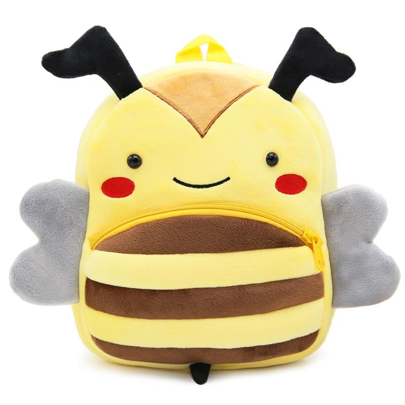 100% Wahr Kindergarten Kleinkind Plüsch Rucksack Niedliche Cartoon-tier Bee Babyschul Geschenke Spielzeug Kinder Kinder Jungen Mädchen Schultaschen Mochila