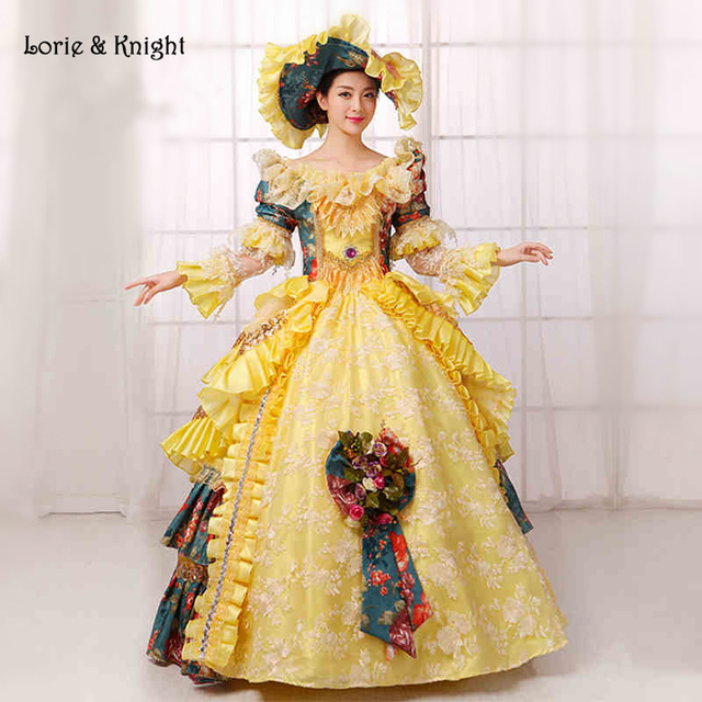 a9387703288b Queen Marie Antoinette Inspired Rococo Dress Princess Stage Costume Vintage  Masquerade Ball Gowns Party Dress