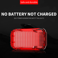 Magnetic Self Generating Mountain Bike Rear Tail Lights Night Riding Safety Warning Lights Cycling Flash Without