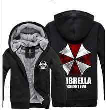 Resident Evil Umbrella Thicken Coat Jacket Hoodie Sweatshirt thermal fleece