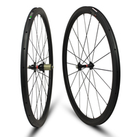 Full Carbon Material 38c Clincher 38 25mm Carbon Clincher Wheels