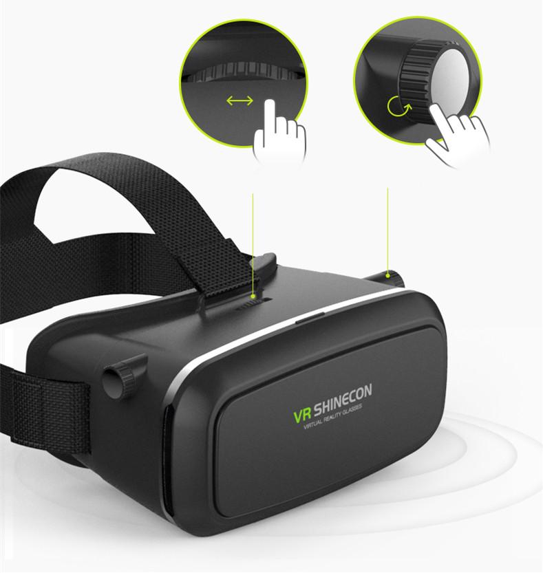 18 Original Shinecon VR Pro Virtual Reality 3D Glasses Headset VRBOX Head Mount Google Cardboard Helmet For Smartphone 4-6inch 6
