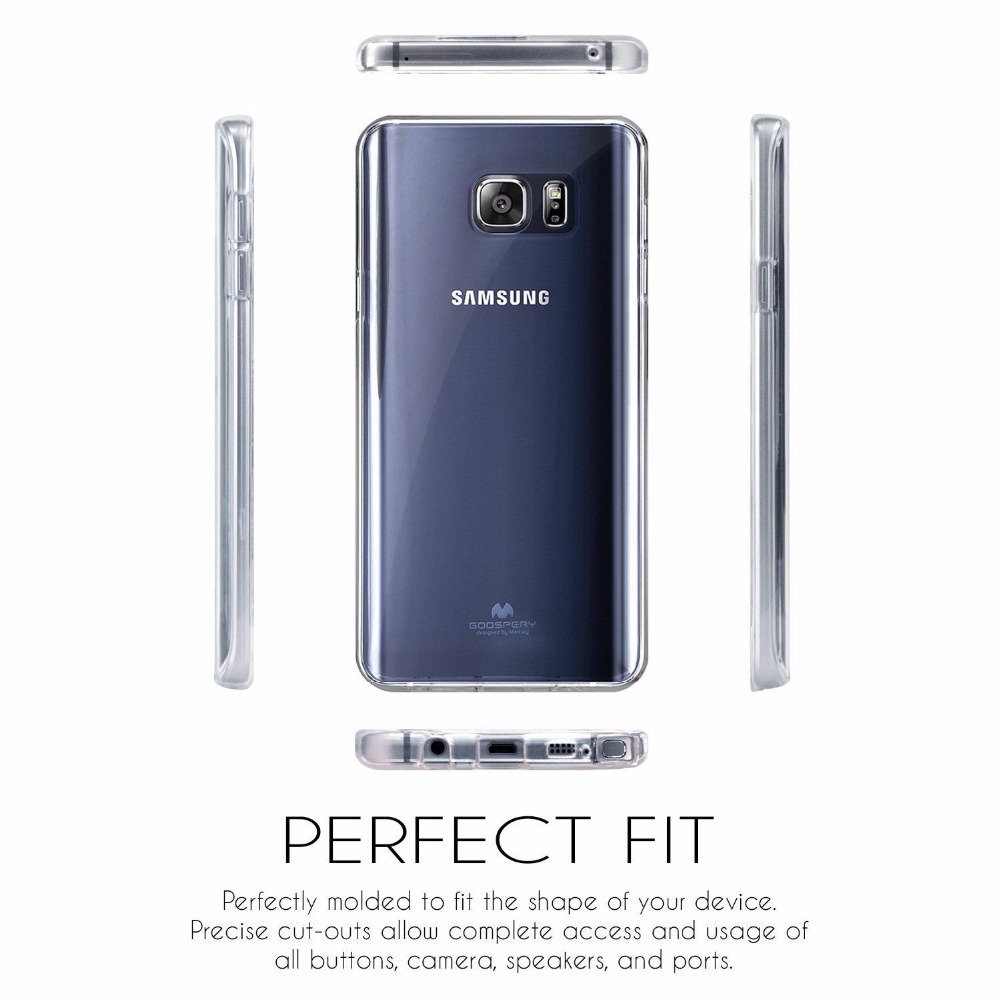 Goospery Transparent Clear Jelly Tpu Soft Cover Case For Samsung Galaxy Grand Prime J2 Pearl Black Series