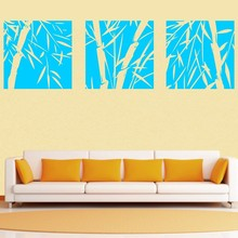 3 Pcs Large Bamboo Wall Stickers Removable Art Vinyl Decal Home Decor Mural DIY High Quality Wallpaper Customized Colors SA362