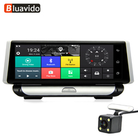 Bluavido 8.0 IPS 4G Android Car DVR Camera GPS Navigation ADAS Dash Cam Registrar Full HD 1080P Video Recorder Dual Lens dvrs