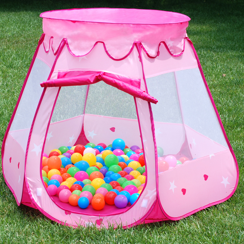 Child tent game house indoor toy girl princess boy small tent baby ocean ball pool home funny fishing game family child interactive fun desktop toy