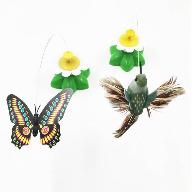 jouet chat papillon volant
