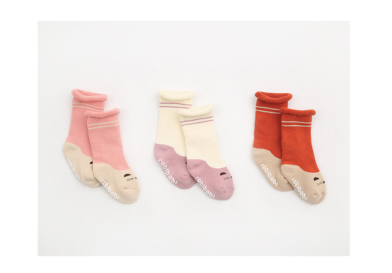 0-2Y Winter Baby Girl Boy Cotton Warm Thickness Knee Socks Children Kids Terry Loose Top Anti-slip Middle Tube Sox 3pairs/Lot 10