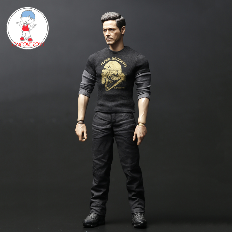 1/6 Iron Man Tony Casual Suit Clothes Shirt Pants Set For 12 Inches Action Figures