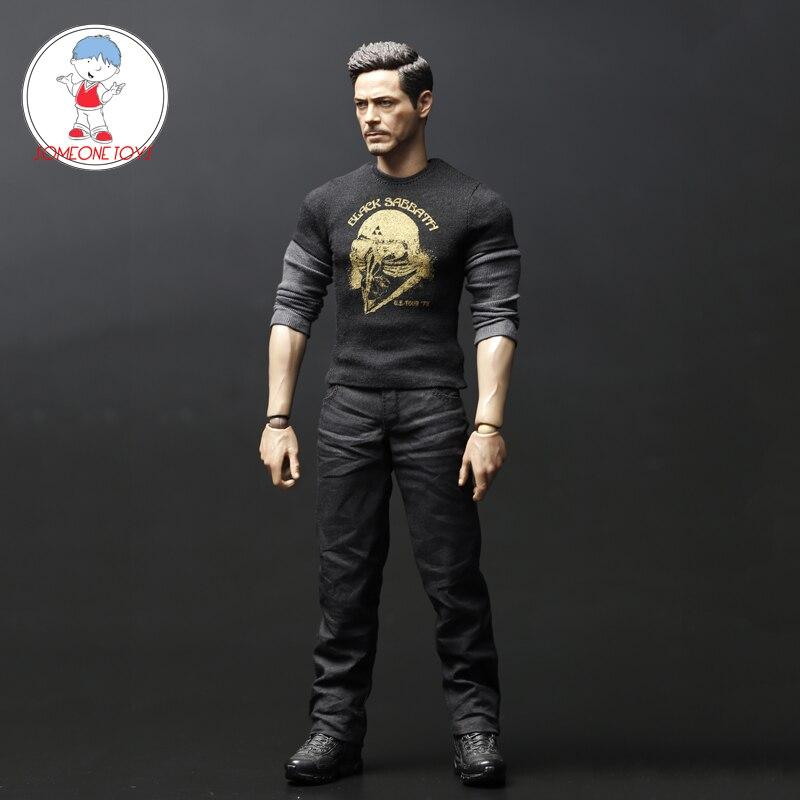 1/6 Iron Man Tony costume décontracté vêtements chemise pantalon ensemble pour 12 pouces figurines