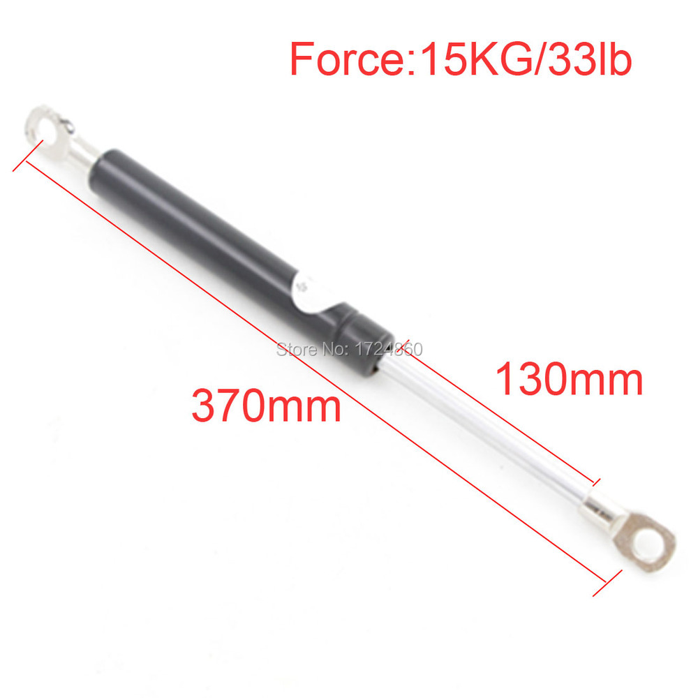 Igo8 Auto Gas Spring 15Kg / 33 lb Force 130mm Long Stroke Hood Lift Support Auto Gas Spring 370mm Automative Hardware Tools