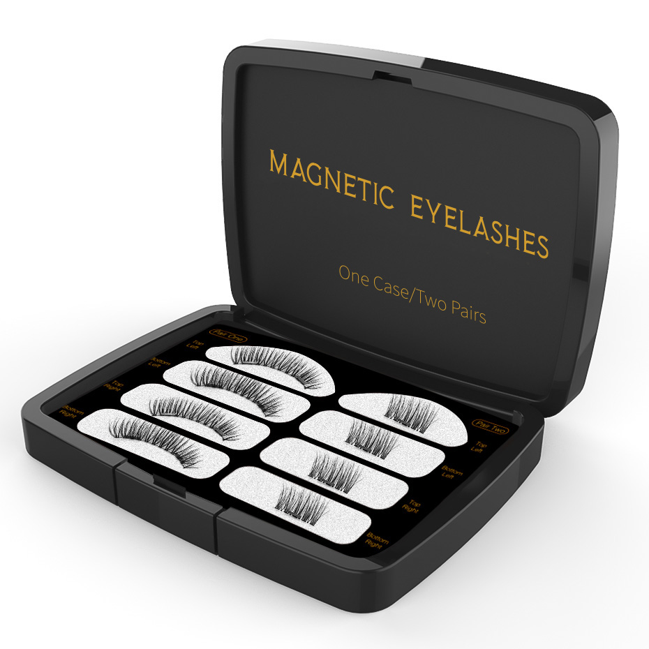 VICILEY 3D Magnetic Eyeashes Handmade Genes Natural false cu ambalaj - Machiaj