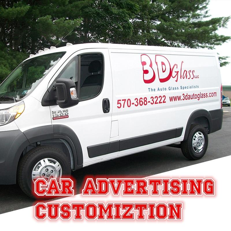 Advertise,Promote a Business,Company,Service,Club-Rear Window Sticker-Car,Van