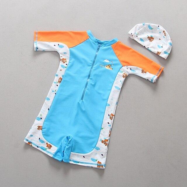 878f662cba Chumhey 4-6 Years Girls Swimwear Kids One Piece Swimsuit Long Sleeves UV  Protection 50