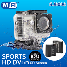 Silvery SJ6000 WIFI Waterproof HD Action Sport Camcorder Camera+2 Battery LF672