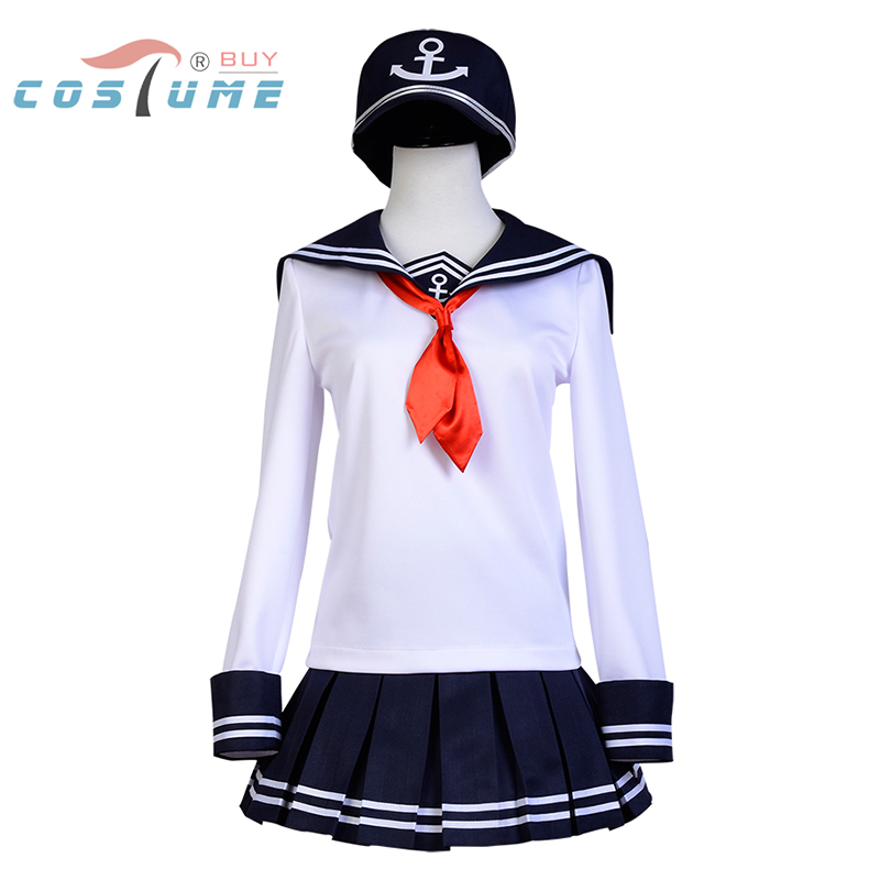 Kantai Collection flotte filles Akatsuki Cospaly Costume marin école uniforme robe avec chapeau Cosplay Costume