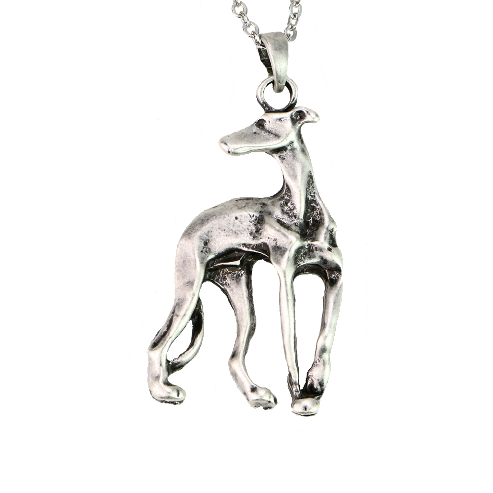 20*35mm Italian Grey hound Necklace Dog Rescue Metal GreyHound Dog Pendant Jewelry For Hound Lover Gift A003