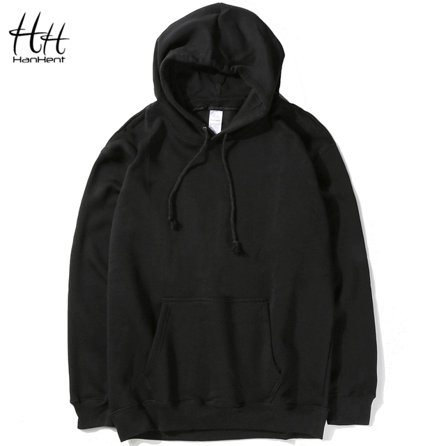 HanHent Fashion Casual Classic Solid Color Cotton Hoodies Mens Spring New Thin Men Sweatshirts Fitness Pure Clothing HO0001
