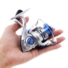 Quality 10 Ball Bearing 5.2:1 Mini Palm Size Spinning Fishing Reels High Speed Sea Fishing Blue Colors Wheel