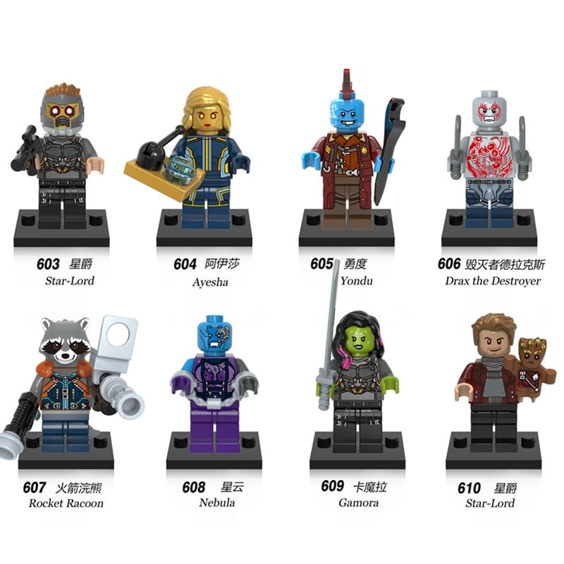 Super Heroes Guardians of the Galaxy Nebula Gamora Yondu Drax The Deatroyer Bricks Building Blocks Best Children Gift Toys