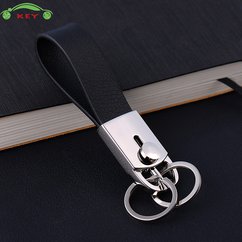 Car Leather Keychain Auto Metal Men Keyring Fashion Key Ring for Toyota Nissan Lexus Mazda Skoda Mercedes Volvo SAAB ISUZU Audi ...