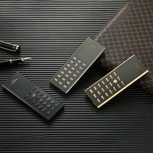 Image 2 - Mini cartão de luxo, pequeno, corpo de metal, telefone celular, dual sim, barra de celular, teclado russo, botão fino certdigi v01