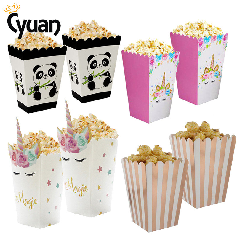 Cartoon Popcorn Box Party Favors Candy Gift Boxes Paper Bags Movie Theater Dessert Table Decoration Birthday Wedding Supplies Gift Bags Wrapping Supplies Aliexpress