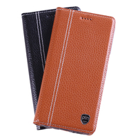 7 Colors Luxury Genuine Leather Stand Flip Phone Cover Magnetic Case For Samsung Galaxy S6 Edge